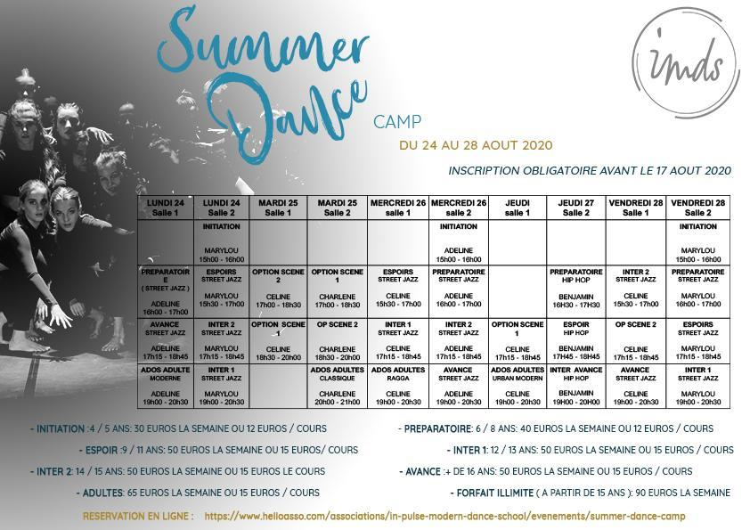 Planning summer dance camp ok 2